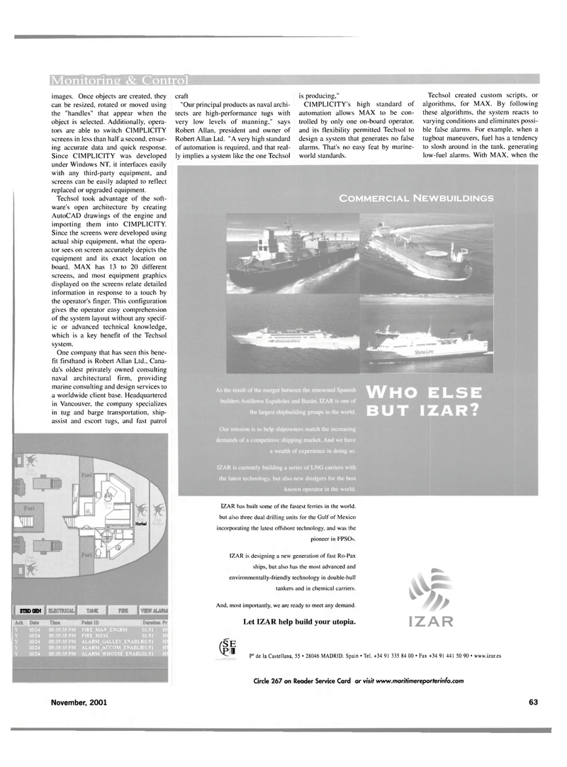 Maritime Reporter Magazine, page 63,  Nov 2001