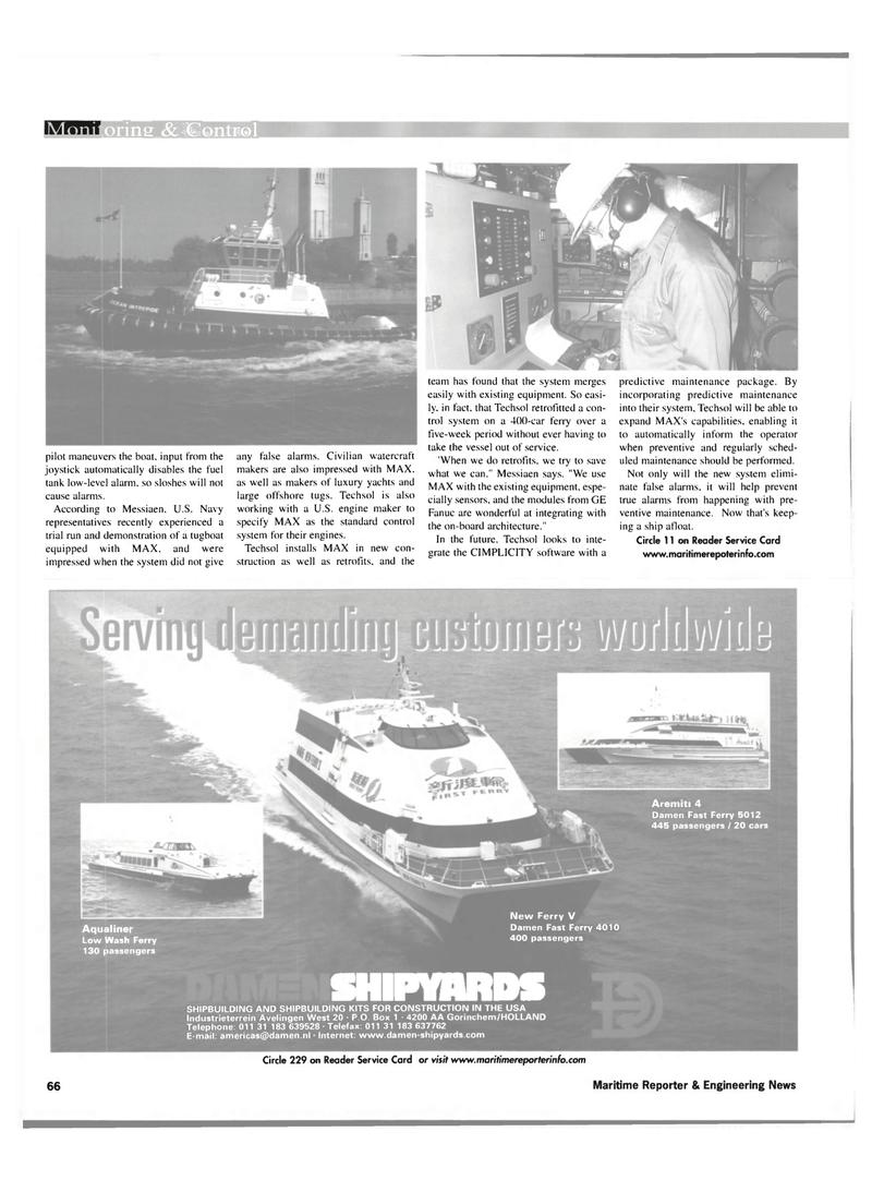 Maritime Reporter Magazine, page 66,  Nov 2001 GE