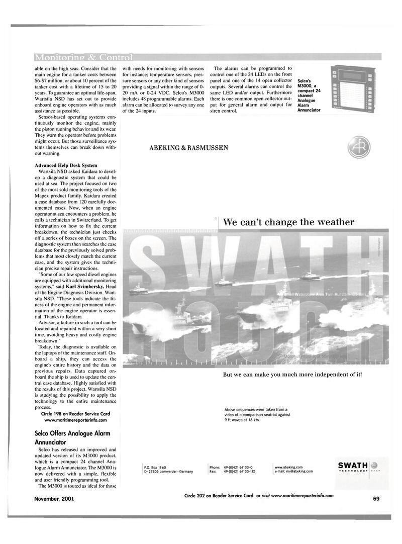 Maritime Reporter Magazine, page 69,  Nov 2001 Karl Svimbersky