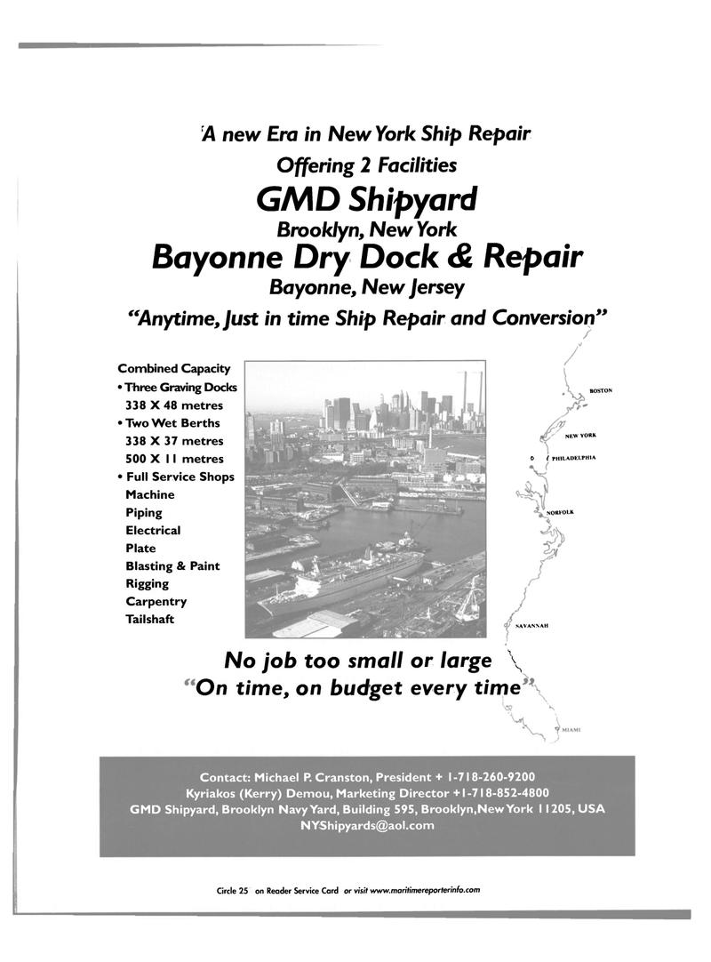 Maritime Reporter Magazine, page 3rd Cover,  Nov 2001 Kyriakos (Kerry) Demou