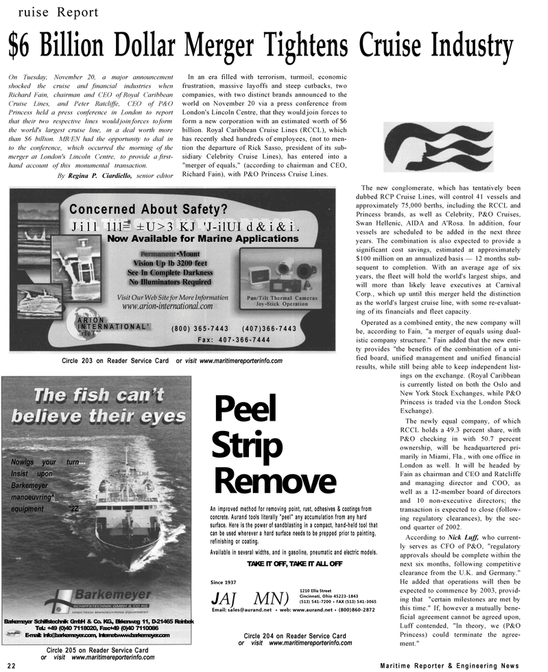 Maritime Reporter Magazine, page 22,  Dec 2001