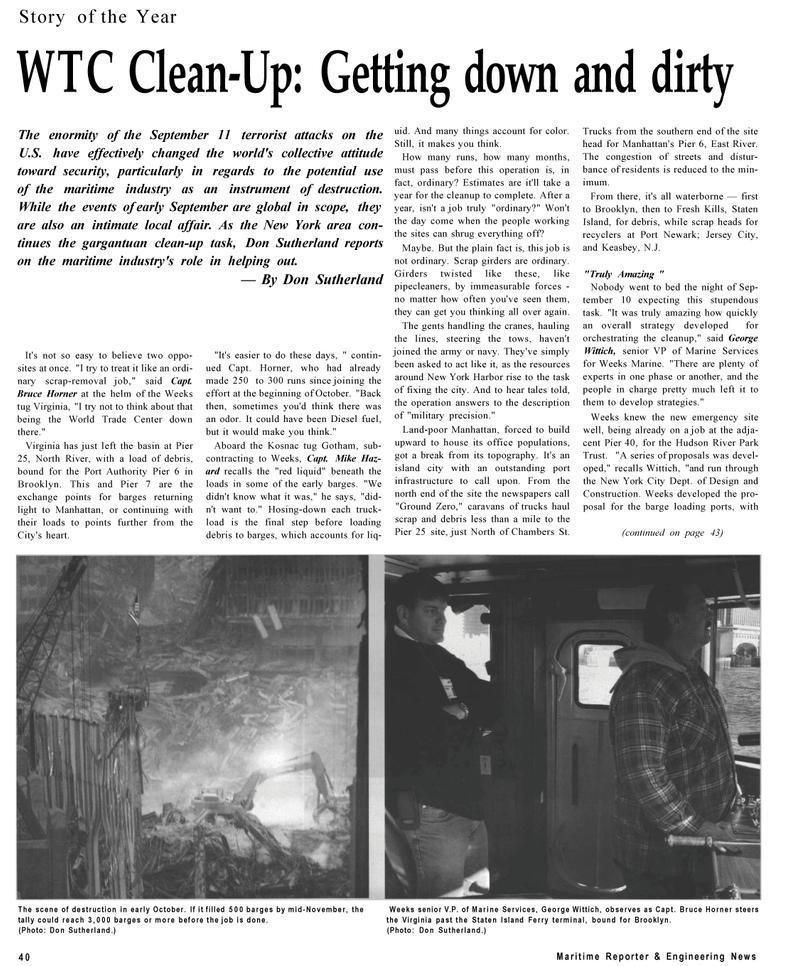 Maritime Reporter Magazine, page 40,  Dec 2001