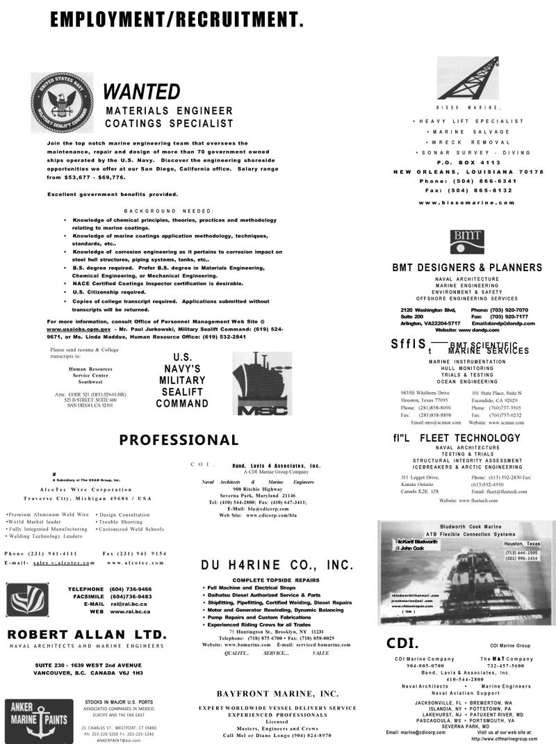 Maritime Reporter Magazine, page 62,  Dec 2001