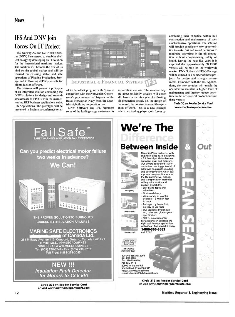 Maritime Reporter Magazine, page 12,  Mar 2002 Harman On Time Radio