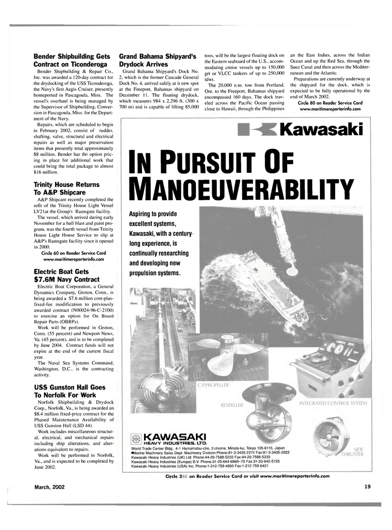 Maritime Reporter Magazine, page 19,  Mar 2002 Hawaii