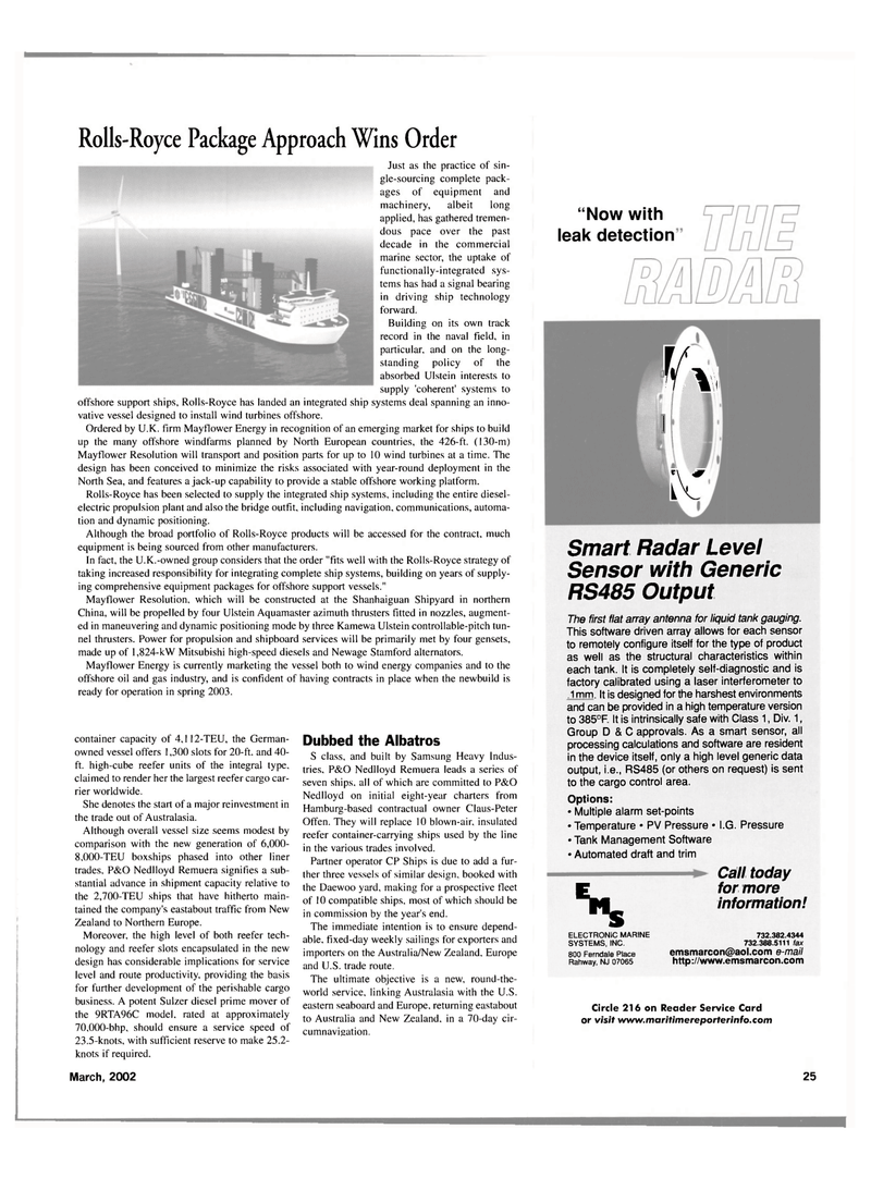 Maritime Reporter Magazine, page 25,  Mar 2002 northern China