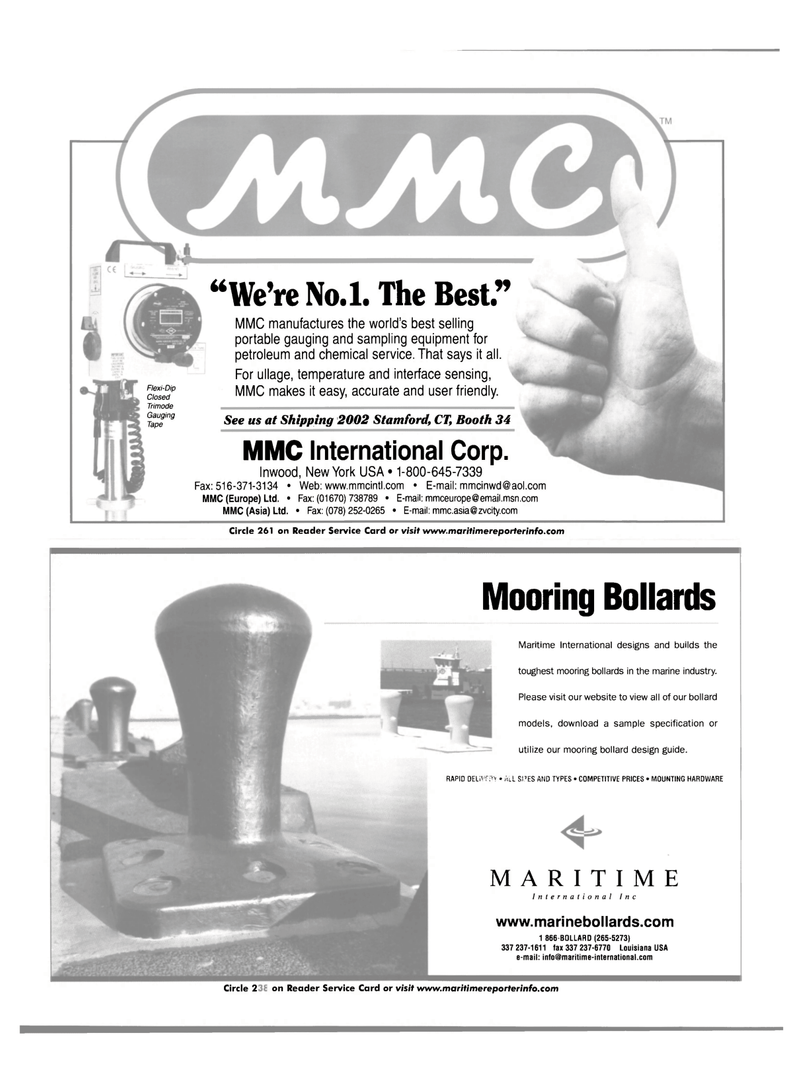 Maritime Reporter Magazine, page 30,  Mar 2002 chemical service