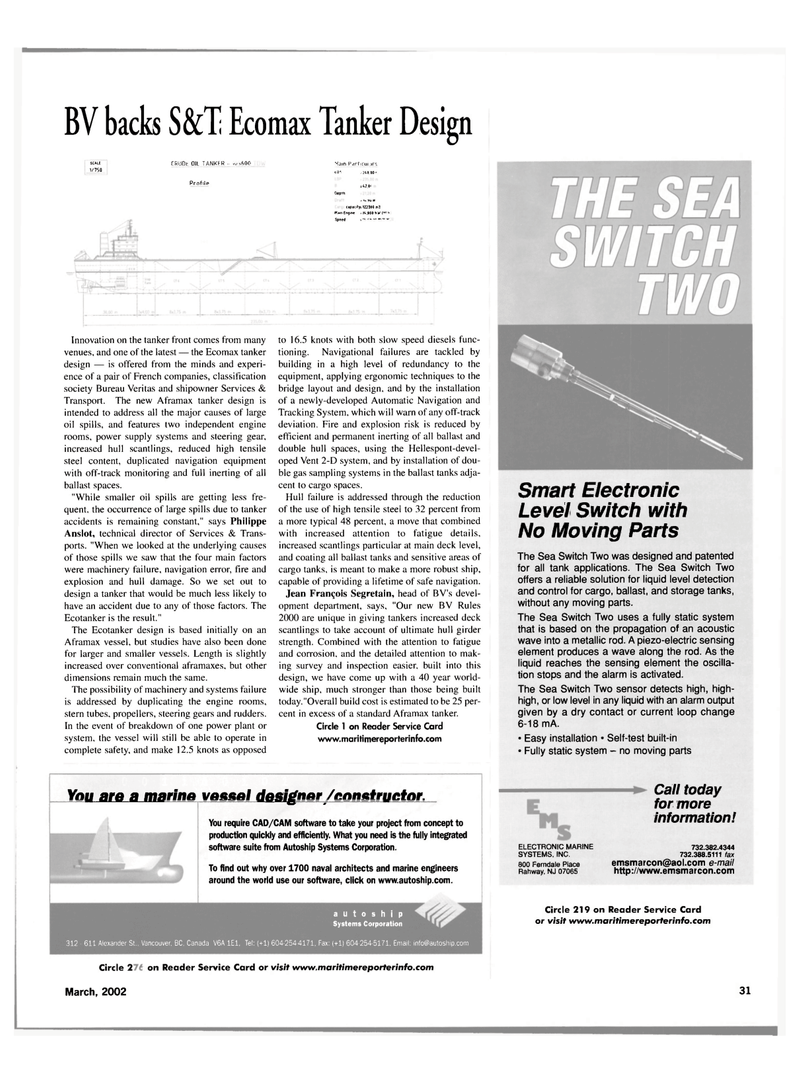 Maritime Reporter Magazine, page 31,  Mar 2002 Philippe Anslot