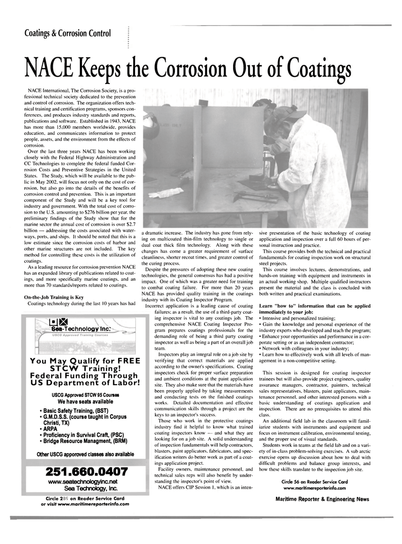 Maritime Reporter Magazine, page 34,  Mar 2002 basic technology