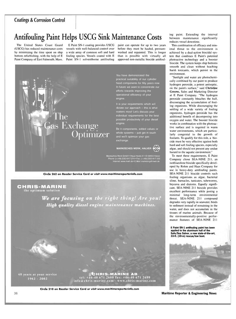 Maritime Reporter Magazine, page 36,  Mar 2002 Sea Salvor