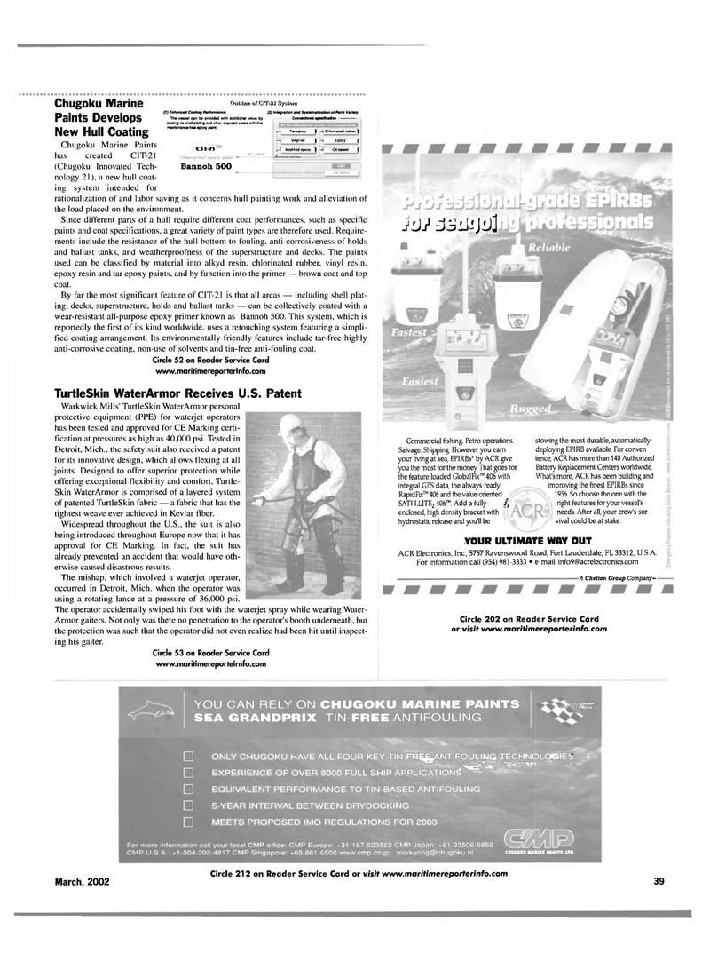 Maritime Reporter Magazine, page 39,  Mar 2002 United Nations