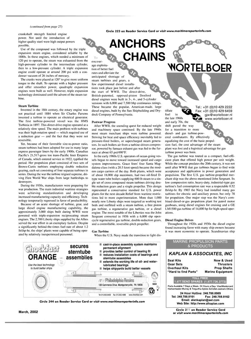 Maritime Reporter Magazine, page 43,  Mar 2002 Liberty