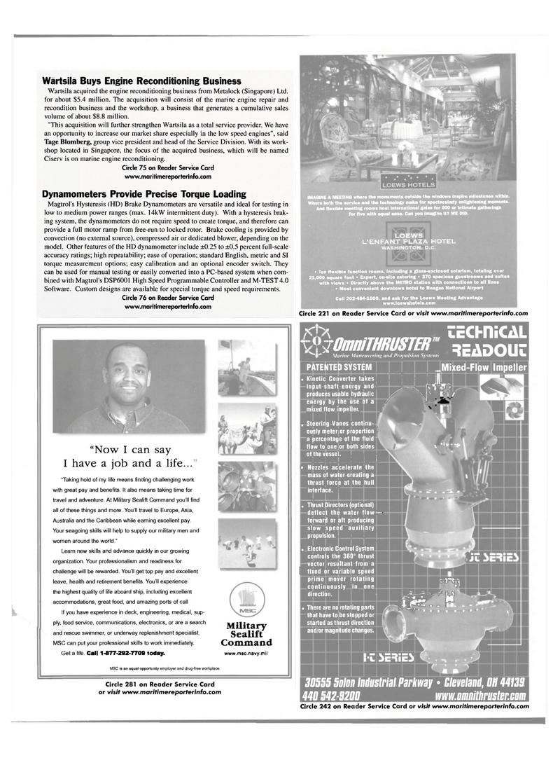 Maritime Reporter Magazine, page 45,  Mar 2002 Service Division