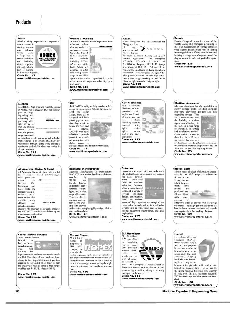 Maritime Reporter Magazine, page 50,  Mar 2002 California