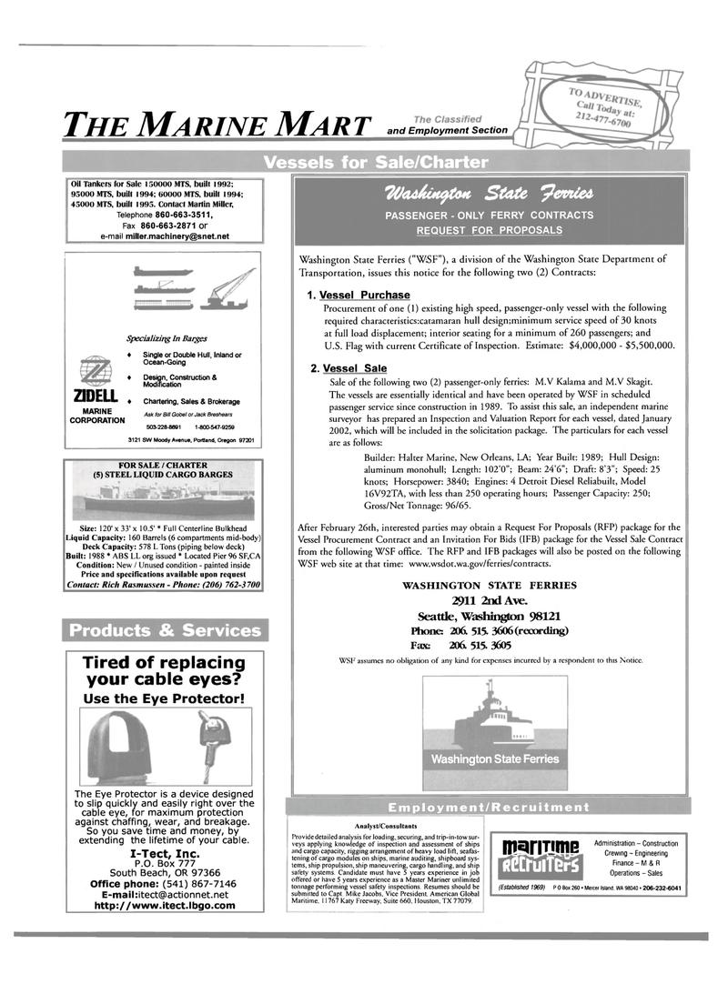 Maritime Reporter Magazine, page 59,  Mar 2002 Martin Miller