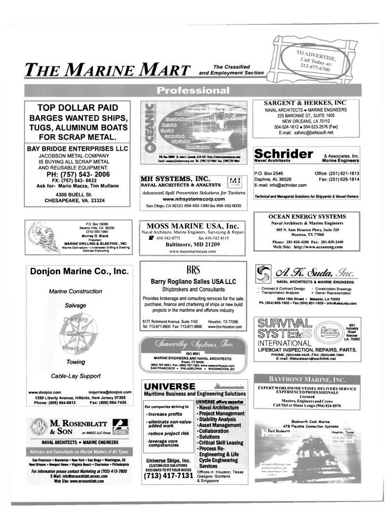 Maritime Reporter Magazine, page 64,  Mar 2002 Mario Mazza