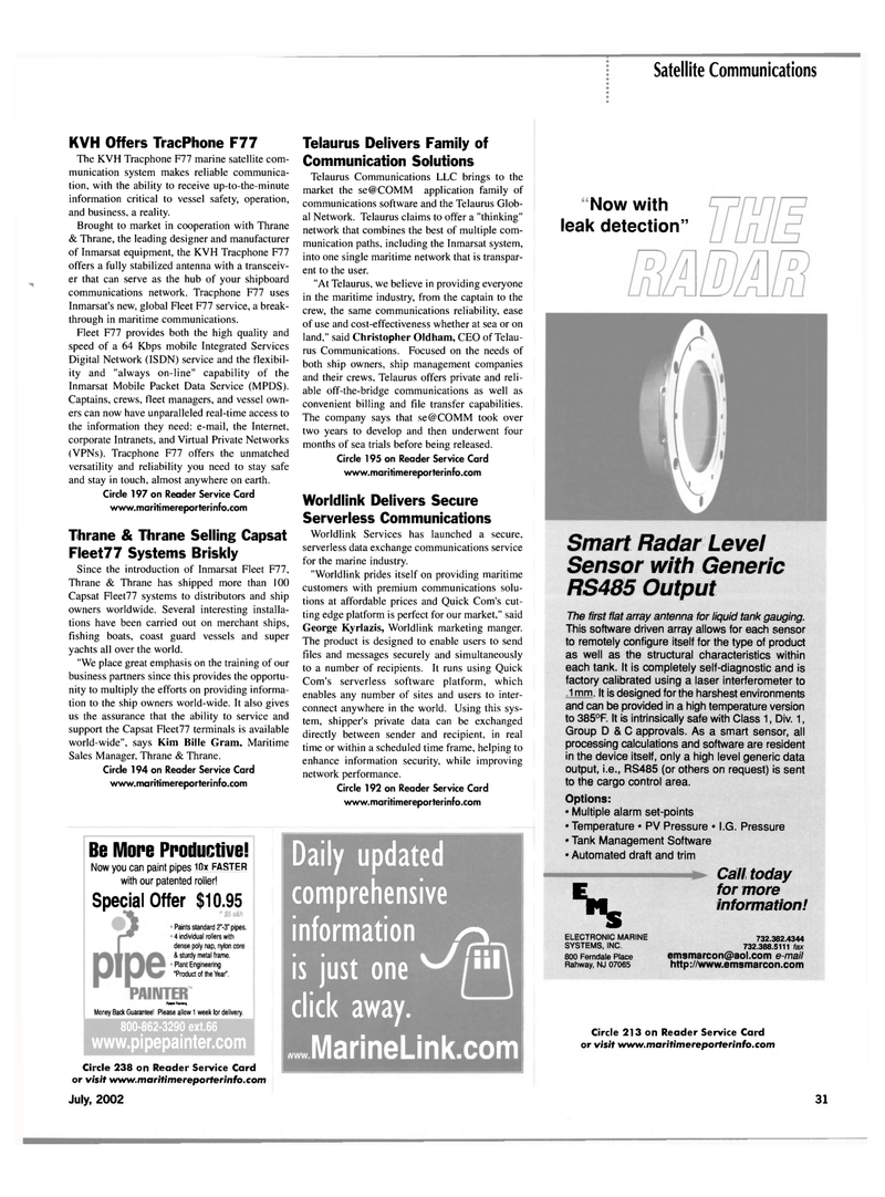 Maritime Reporter Magazine, page 31,  Jul 2002 ISDN
