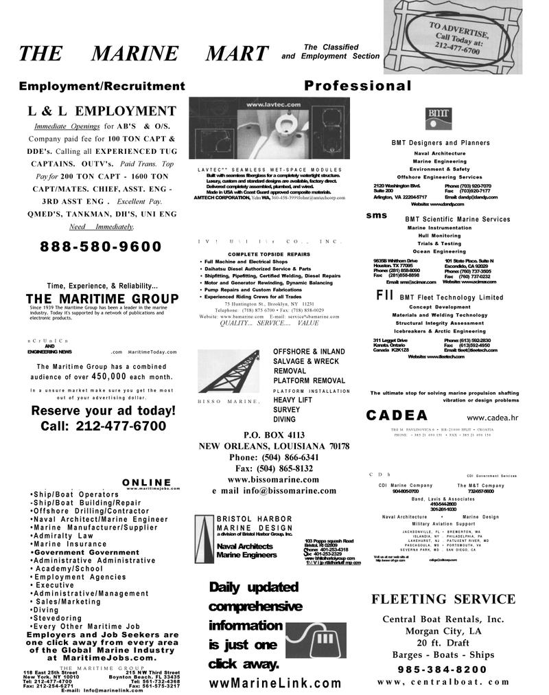 Maritime Reporter Magazine, page 46,  Dec 2002