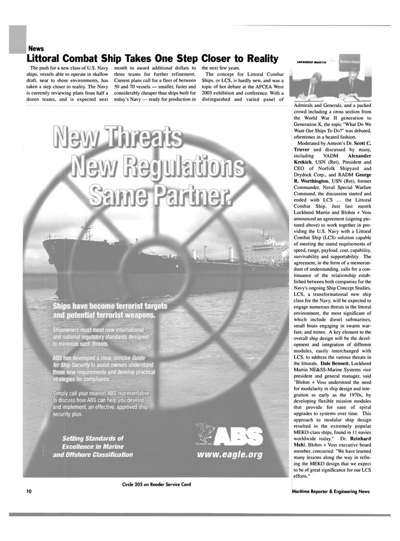 Maritime Reporter Magazine, page 10,  Feb 2003