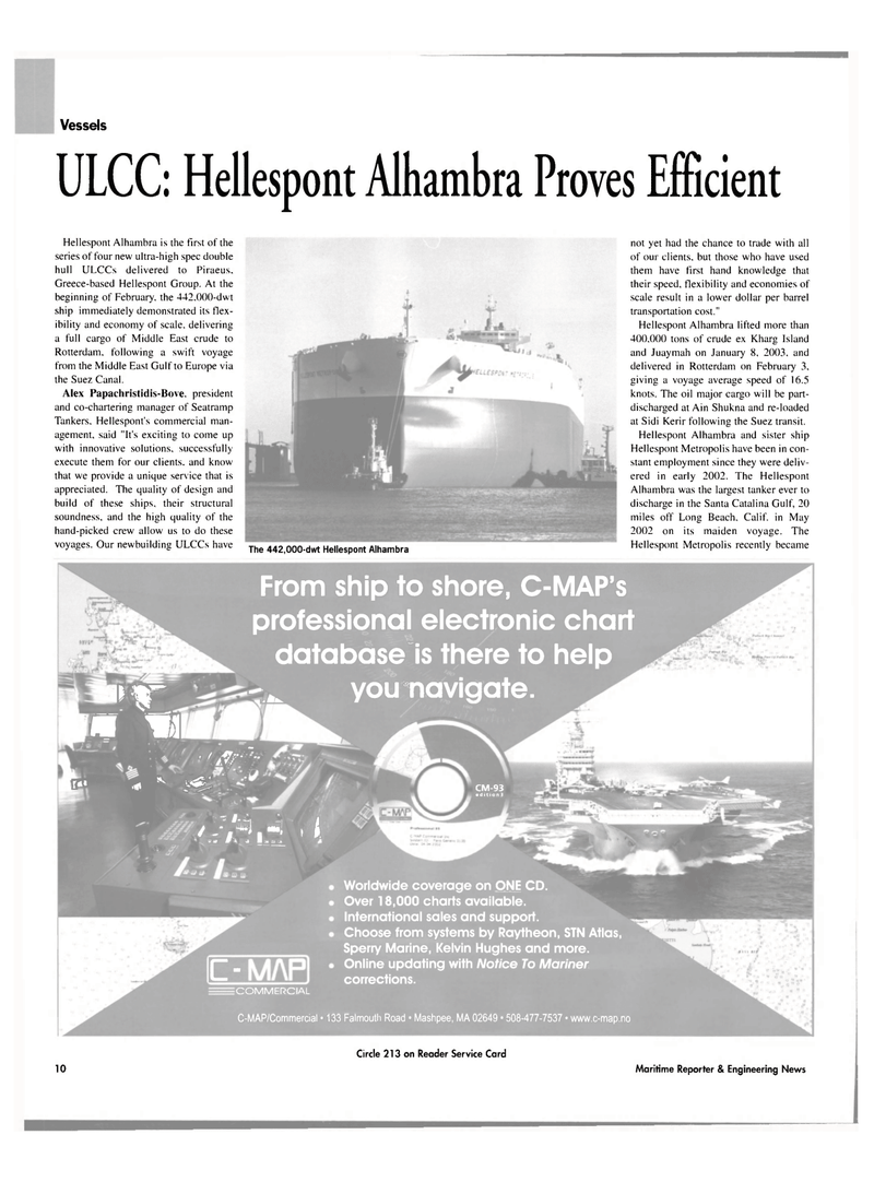 Maritime Reporter Magazine, page 10,  Mar 2003