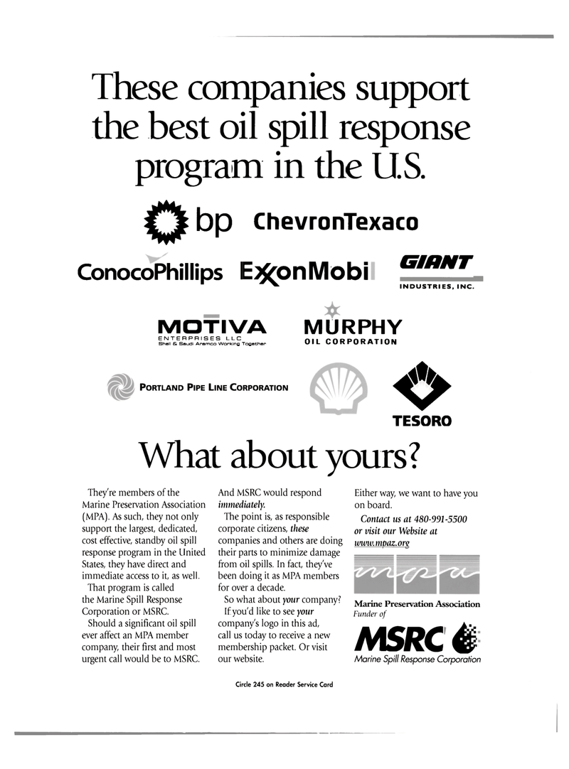 Maritime Reporter Magazine, page 2nd Cover,  Mar 2003 oil spill