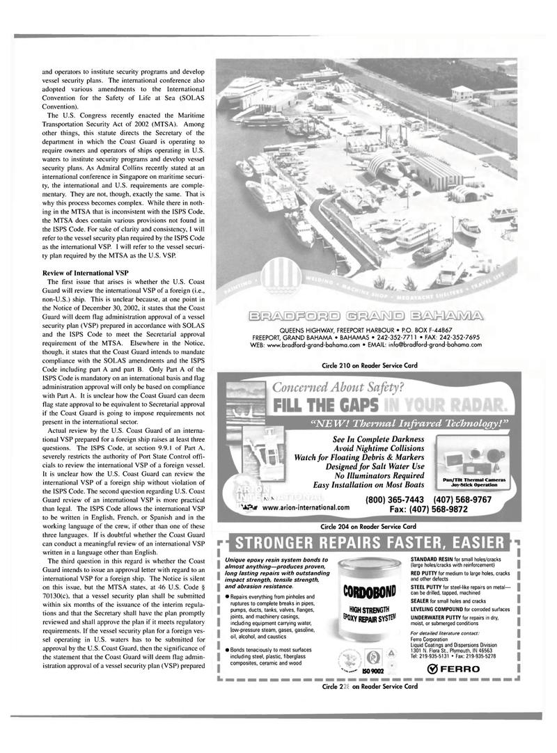 Maritime Reporter Magazine, page 19,  Mar 2003 U.S. Congress