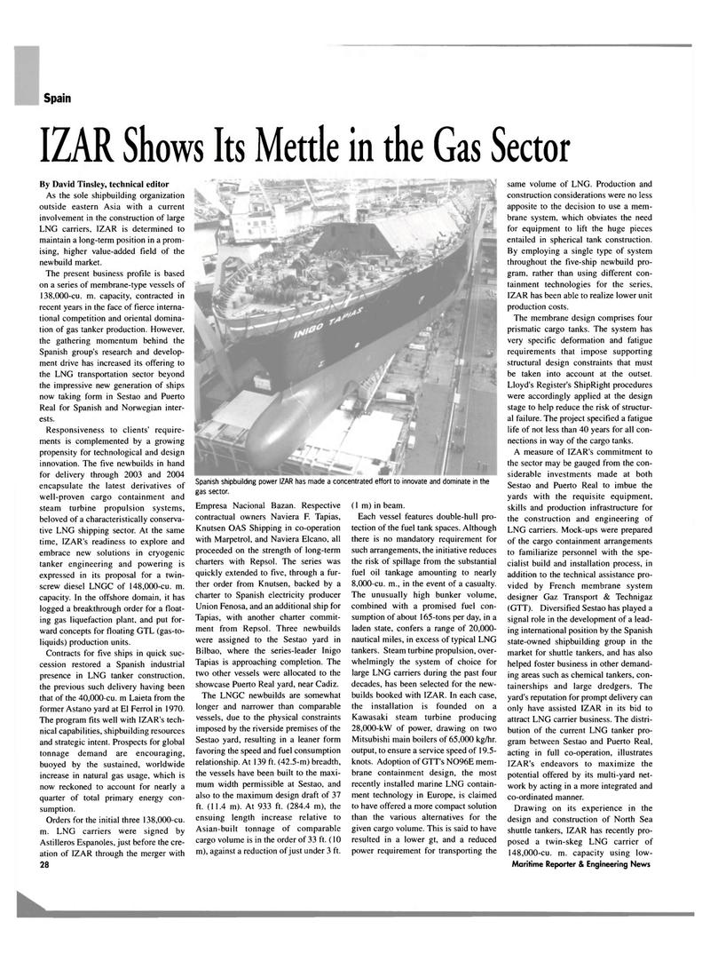 Maritime Reporter Magazine, page 28,  Mar 2003 David Tinsley