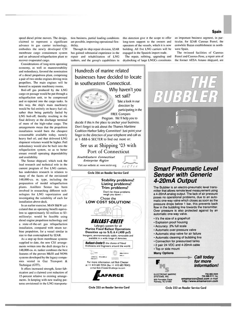 Maritime Reporter Magazine, page 29,  Mar 2003