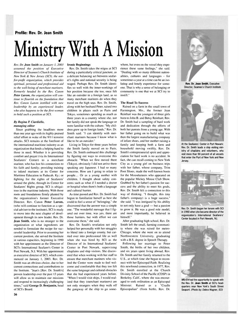Maritime Reporter Magazine, page 36,  Mar 2003 Debra Wagner