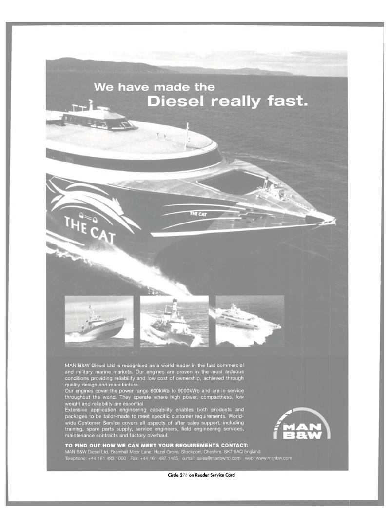 Maritime Reporter Magazine, page 3,  Mar 2003 MAN B&W Diesel Ltd