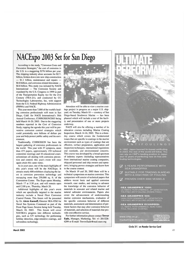 Maritime Reporter Magazine, page 49,  Mar 2003 UV technology