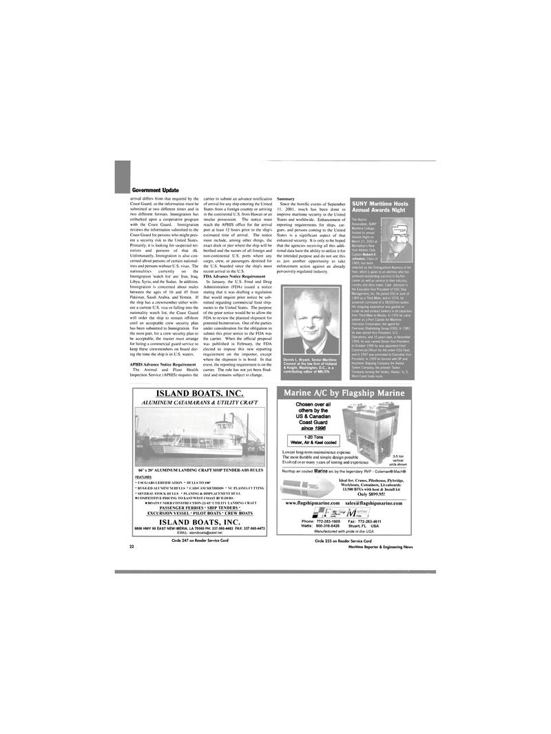 Maritime Reporter Magazine, page 22,  Apr 2003 Hawaii