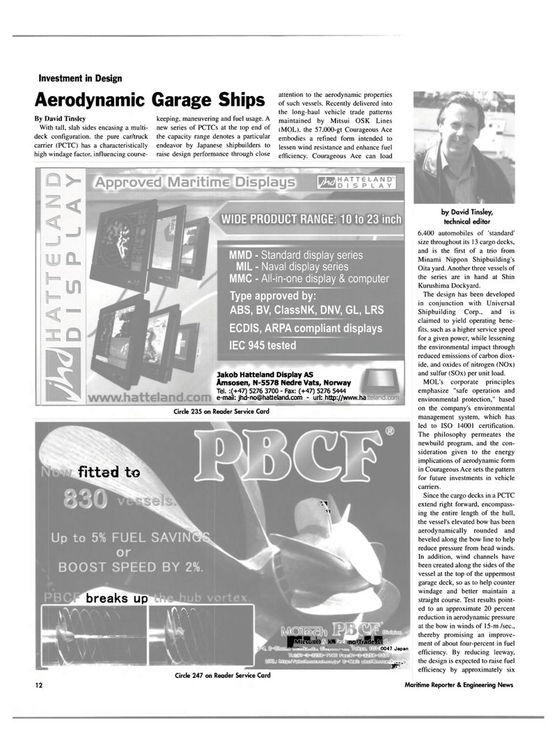 Maritime Reporter Magazine, page 12,  May 2003
