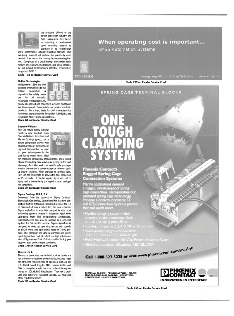 Maritime Reporter Magazine, page 43,  May 2003