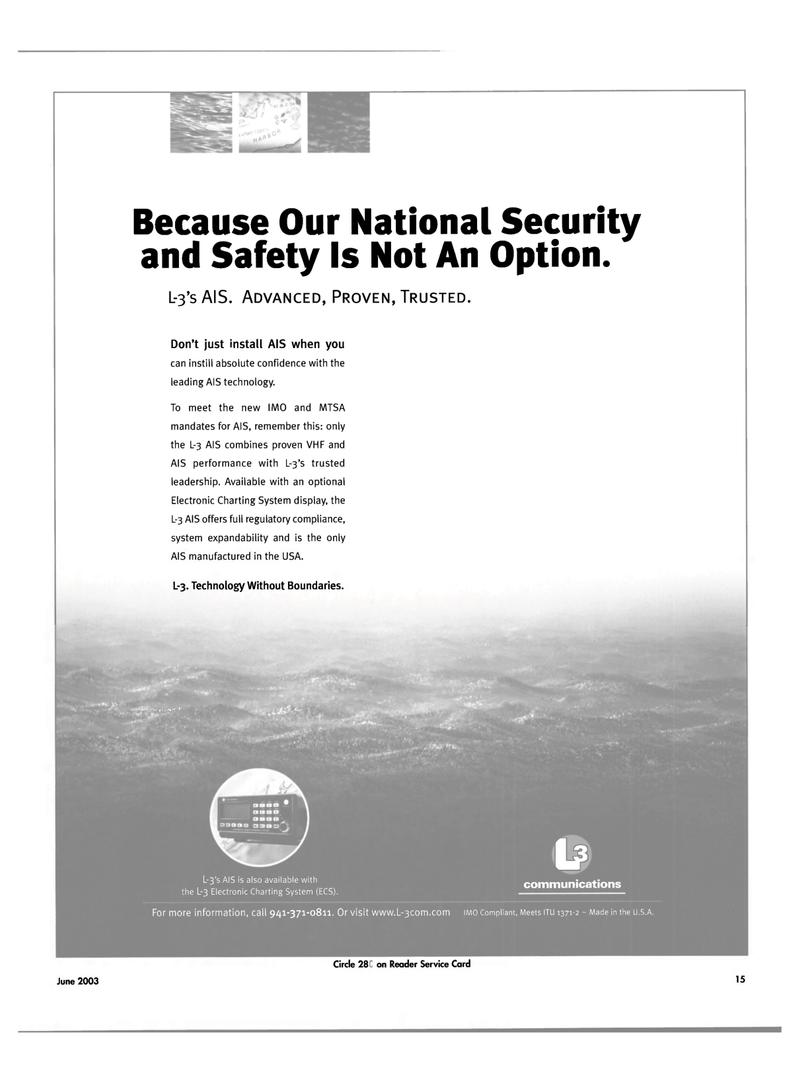 Maritime Reporter Magazine, page 15,  Jun 2003