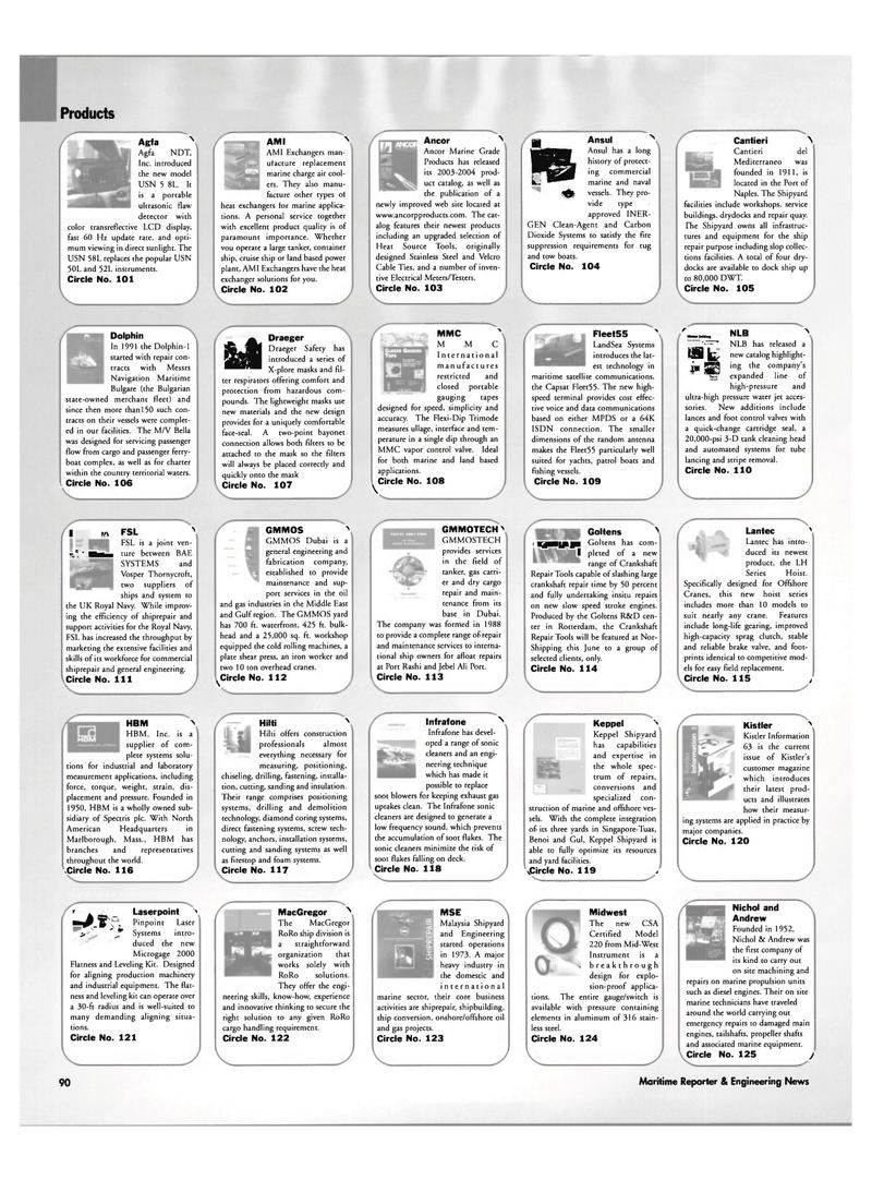 Maritime Reporter Magazine, page 90,  Jun 2003 demolition technology
