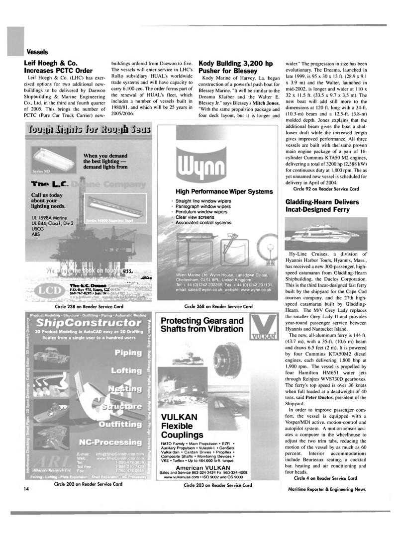 Maritime Reporter Magazine, page 14,  Jul 2003