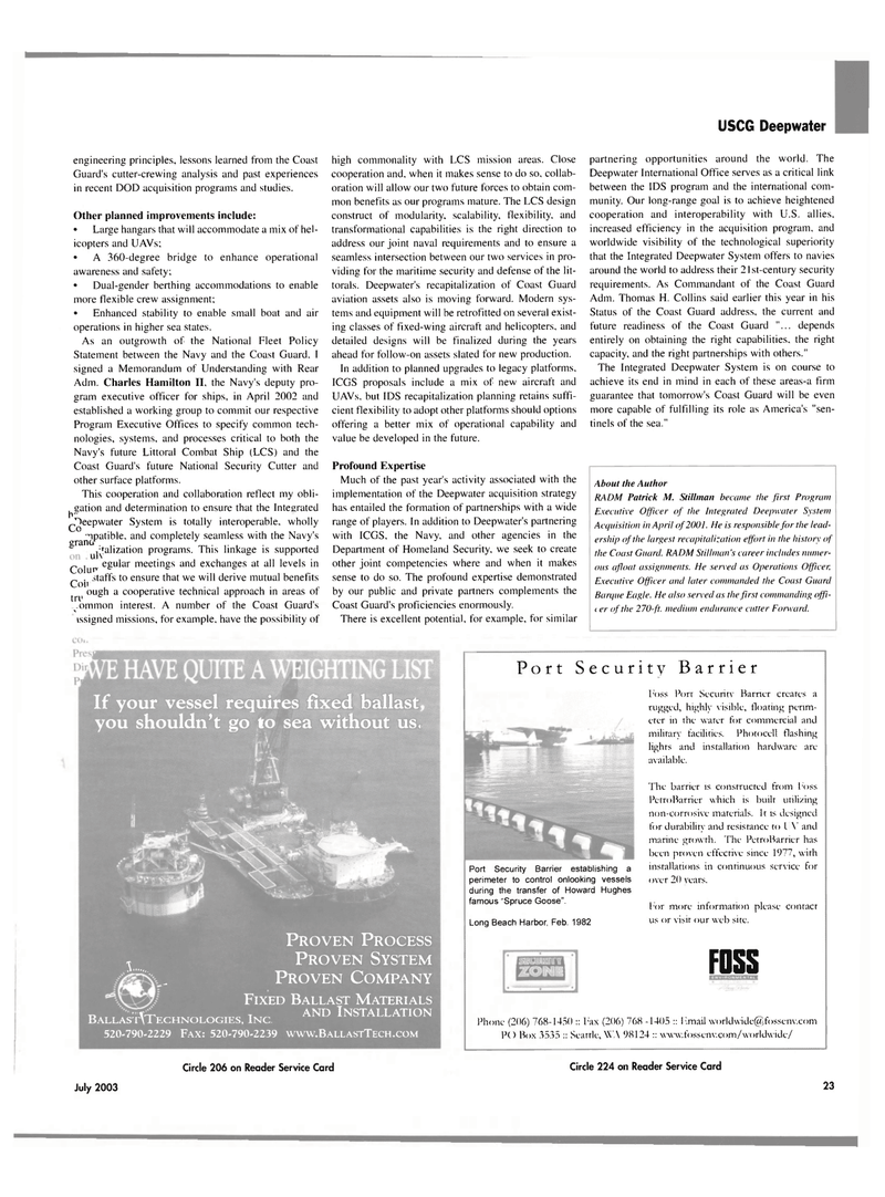 Maritime Reporter Magazine, page 21,  Jul 2003