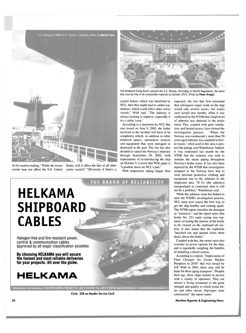 Maritime Reporter Magazine, page 32,  Jul 2003