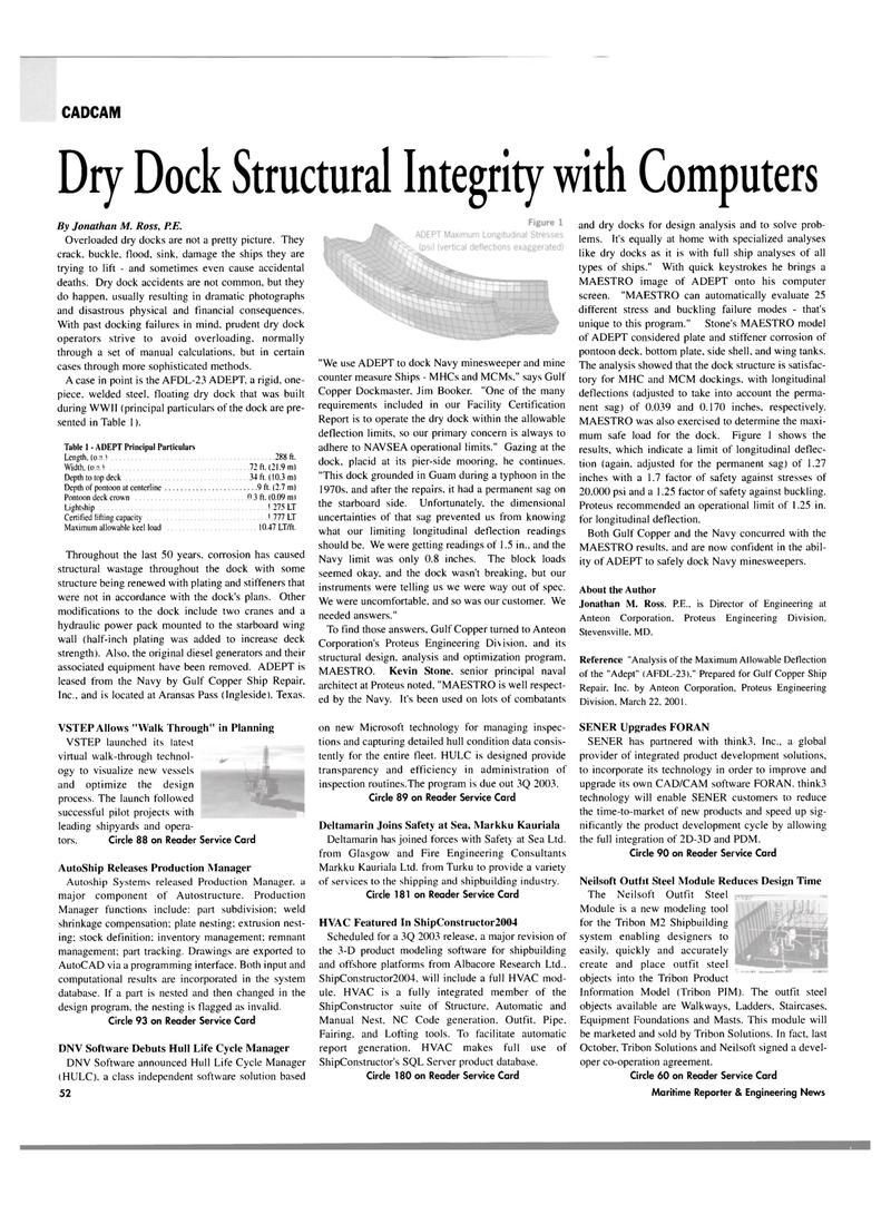 Maritime Reporter Magazine, page 50,  Jul 2003
