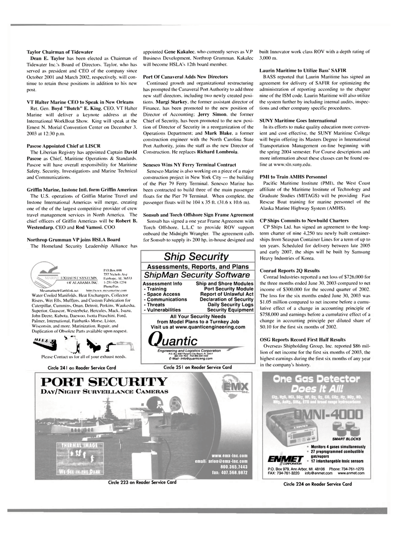 Maritime Reporter Magazine, page 50,  Sep 2003