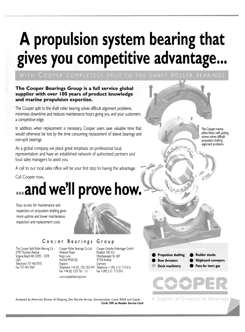 Maritime Reporter Magazine, page 3rd Cover,  Sep 2003