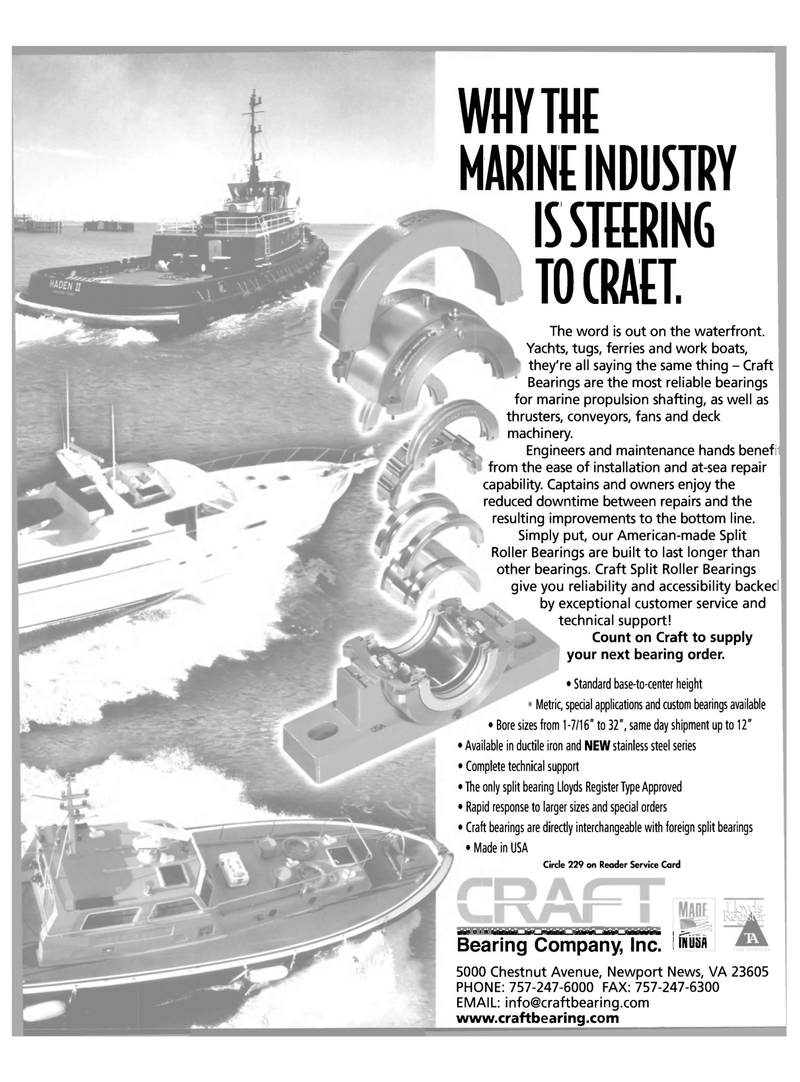 Maritime Reporter Magazine, page 2nd Cover,  Oct 2003 deck machinery
