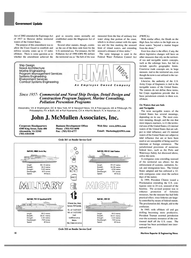 Maritime Reporter Magazine, page 20,  Oct 2003 Pennsylvania