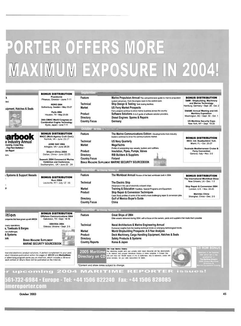 Maritime Reporter Magazine, page 47,  Oct 2003 United States Navy