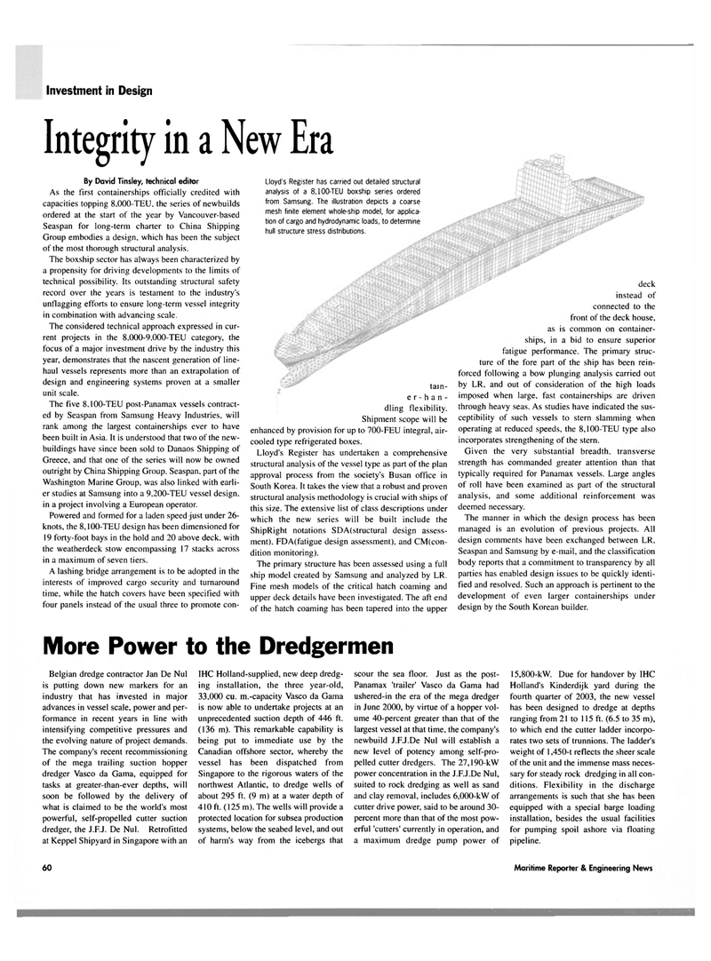 Maritime Reporter Magazine, page 62,  Oct 2003 subsea production systems