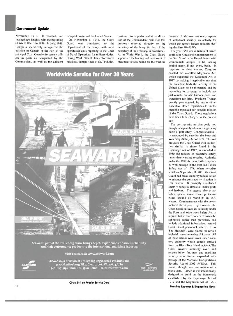 Maritime Reporter Magazine, page 14,  Mar 2004