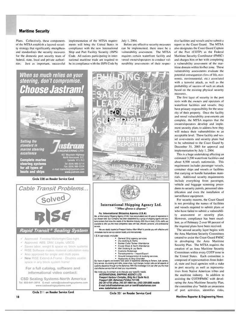 Maritime Reporter Magazine, page 18,  Mar 2004 marine steering systems