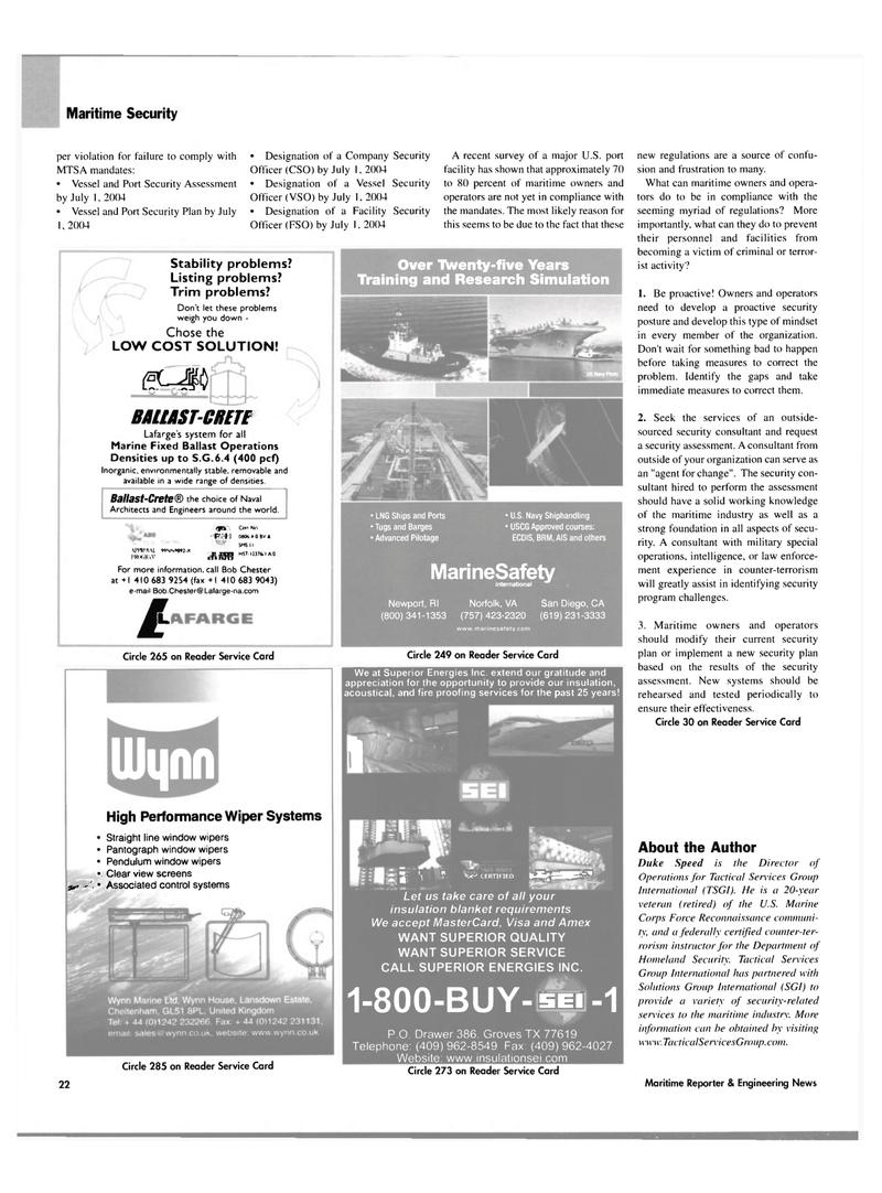 Maritime Reporter Magazine, page 22,  Mar 2004 Bob Chester