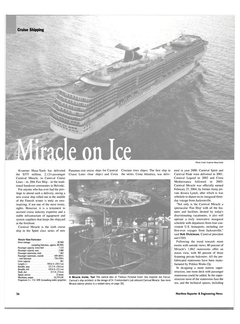 Maritime Reporter Magazine, page 26,  Mar 2004 Bob Dickinson